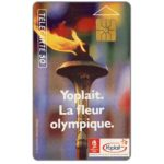 The Phonecard Shop: France, Yoplait, Flamme Olympique, 01/92, 50 units