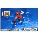 The Phonecard Shop: Albertville 92, slalom skier 2, 04/91, chip SC-4ab Ø6, 50 units