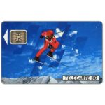 The Phonecard Shop: France, Albertville 92, slalom skier 2, 04/91, chip SC-4an S/E Ø7, 50 units
