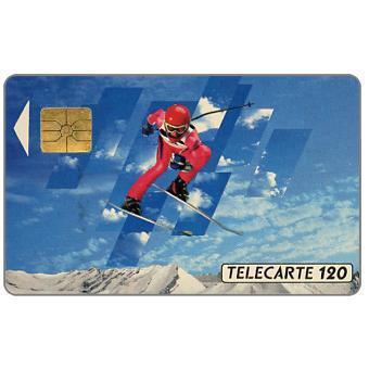 The Phonecard Shop: France, Albertville 92, slalom skier 2, 04/91, chip SO3, 120 units