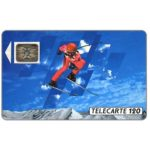 The Phonecard Shop: Albertville 92, slalom skier 1, 12/90, chip SC-5an Ø7, 120 units