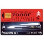 The Phonecard Shop: France, Citroen 7000F, 50 units