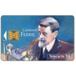 Phonecard for sale: Figures of telecommunications 8, Gustave Ferrie, 08/93, chip OB1, 50 units