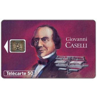 The Phonecard Shop: Figures of telecommunications 12, Giovanni Caselli, 12/93, chip SC-5, 50 units