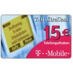 The Phonecard Shop: Germany, T-Mobile, XtraCash, 15 €