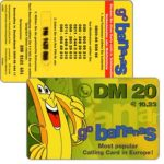 The Phonecard Shop: Germany, CPE - Go Bananas, 20DM / 10.23€