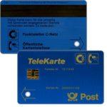 The Phonecard Shop: Germany, Funktelefon C-Netz, Post Telekarte