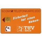 The Phonecard Shop: Germany, TUV-Berlin, 50 DM