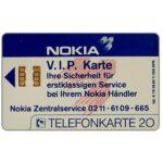 The Phonecard Shop: Germany, Nokia V.I.P. Karte, 20 units
