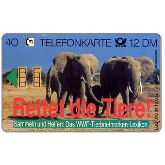 The Phonecard Shop: Germany, WWF, Elephants, 12 DM