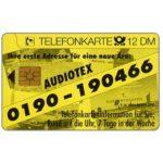 The Phonecard Shop: Germany, Audiotex, 12 DM