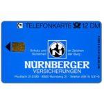 The Phonecard Shop: Germany, Nurnberger Versicherungen, 12 DM