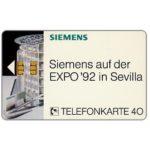 The Phonecard Shop: Germany, Siemens Expo '92 Sevilla, 40 units