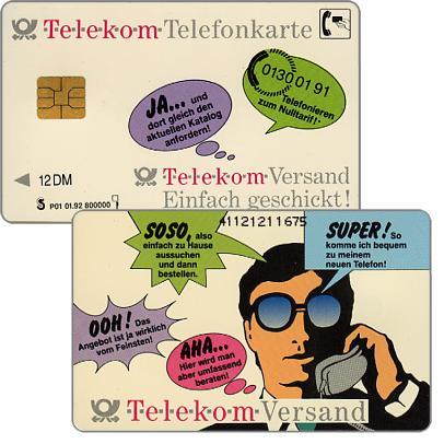 The Phonecard Shop: Germany, Telekom-Versand, 12 DM