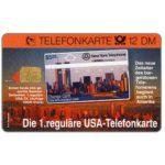 The Phonecard Shop: Germany, Kruger, first USA regular phonecard, 12 DM