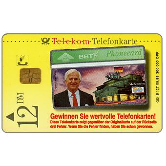 The Phonecard Shop: Kruger - Richard von Weizsacher, 12 DM