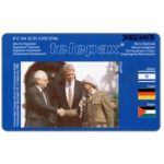 The Phonecard Shop: Telepax, Rabin, Clinton, Arafat, 6 DM