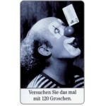 The Phonecard Shop: Clown and phonecard, grey arrow, 12 DM