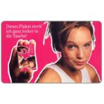 The Phonecard Shop: Girl with phonecard, 12 DM