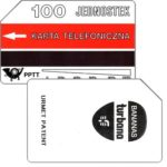 The Phonecard Shop: Poland, First issue, Turbana Bananas, 100 units