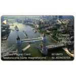 The Phonecard Shop: Poland, Trial card, Tower Bridge - London, 50 units