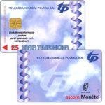 The Phonecard Shop: Poland, Ascom Monetel Trial card, 25 units