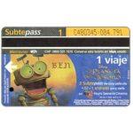 The Phonecard Shop: Argentina, Metrovias - Disney's El Planeta del Tesoro, Ben (Buenos Aires subway card), 1 ride