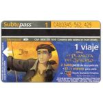 The Phonecard Shop: Argentina, Metrovias - Disney's El Planeta del Tesoro, Jim (Buenos Aires subway card), 1 ride