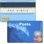 The Phonecard Shop: Italy, BancoPosta Mastercard specimen, wave (cardboard debit card)