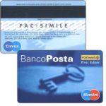 The Phonecard Shop: Italy, BancoPosta Maestro specimen, key (cardboard debit card)