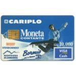 The Phonecard Shop: Italy, Cariplo Moneta Contante, trial card Visa Cash, Bormio (cash card)