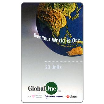 The Phonecard Shop: Global One - Globe, 20 units