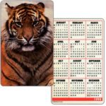 The Phonecard Shop: Great Britain, Tiger (pocket calendar)