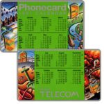 The Phonecard Shop: Great Britain, British Telecom Phonecard (pocket calendar)