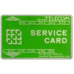 The Phonecard Shop: Great Britain, Service card, green/silver, without notch, long track, 502S, 200 units
