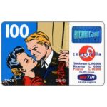 "The Phonecard Shop: Italy, TIM - Flash Gordon and Dale kissing, ""La vita migliora"", 100 units"