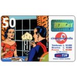 "The Phonecard Shop: TIM - Mandrake and Narda at dinner, ""Vivere senza confini"", 50 units"