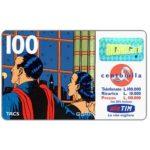 "The Phonecard Shop: Italy, TIM - Mandrake and Narda at window, ""La vita migliora"", 100 units"