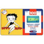 The Phonecard Shop: TIM - Betty Boop, 100 units