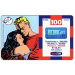The Phonecard Shop: Italy, TIM - Flash Gordon and Dale hugging each other, 100 units