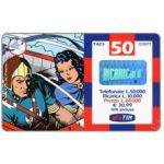 The Phonecard Shop: Italy, TIM - Flash Gordon and Dale in airplane, 50 units