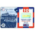 The Phonecard Shop: Italy, TIM - Jubilaeum 2000, St.Peter's Church, 10 units