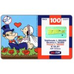 The Phonecard Shop: Italy, TIM - Popeye and Olive with heart, 100 units