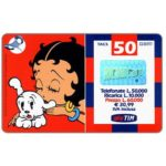 The Phonecard Shop: Italy, TIM - Betty Boop kissing dog puppet, 50 units