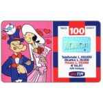 The Phonecard Shop: Italy, TIM - Popeye and Olive married, 100 units