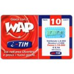 The Phonecard Shop: Italy, TIM - Gioca con il WAP di i-TIM, 10 units