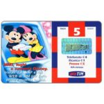 The Phonecard Shop: Italy, TIM - Mickey and Minnie Mouse, 5 units