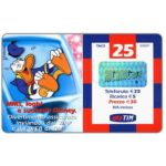 The Phonecard Shop: Italy, TIM - Donald Duck, 25 units