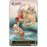 The Phonecard Shop: Italy, ATW - Zodiac, Acquario, 3 units (sample card)