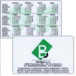 The Phonecard Shop: Italy, Bruman s.r.l. (pocket calendar)
